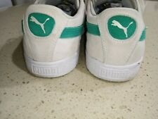 men's suede leather green flash white puma sneakers size US 10