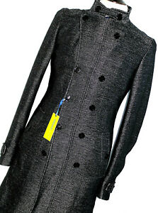 BNWT MENS VERSACE JEANS COUTURE KNITTED WEAVE JACKET PEACOAT COAT OVERCOAT 38R