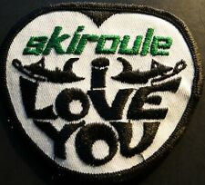"VINTAGE SKIROULE I LOVE YOU SNOWMOBILE PATCH NEW 3"" X 3 1/2"" (709)"