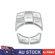 Chrome iDrive Multimedia Button Cover Hand Brake Decor ABS for BMW 1 4 5 Series