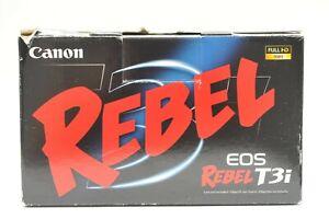Empty Box Canon Rebel T3i DSLR Box