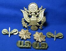 WWII Army Air Forces Wings, Major, US Officer Insignia Sets & Officer Hat Badge