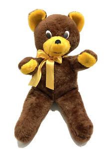 "Vintage 1978 The Rushton Company 24"" Teddy Bear Plush Stuffed Animal 70s Prop"