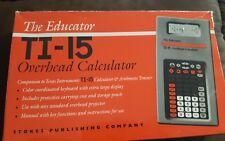 Texas Instruments TI-15 Overhead Calculator with Calculator Keeper Case