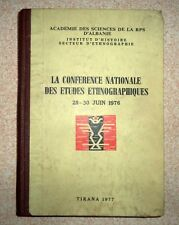 Etudes Ethnographiques. Rare book from Albania in French. Institute of Folk 1977
