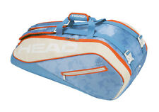 Head Tour Team 9R Supercombi Tennis Bag Light Blue Racquet Backpack Nwt 283118