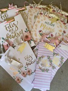 (30) Mother's Day Gift Bags & Wine Bottle Spanish Assorted Bulk Lot Feliz Madre