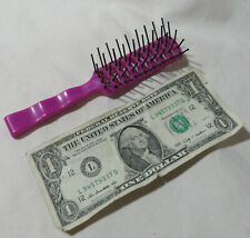 Vintage Fuchsia Pink Vent Hair Brush Travel / purse size ~ Free Shipping