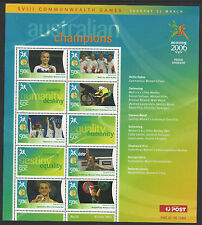 AUSTRALIA 2006 COMMONWEALTH GAMES GOLD MEDAL Souvenir Sheet No 10 MNH