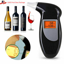 Digital LCD Police Breath Breathalyzer Test Alcohol Tester Analyzer Detector