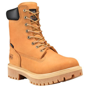 Timberland PRO 8 Inch Wheat Soft or Steel Toe DirectAttach Leather Work Boots