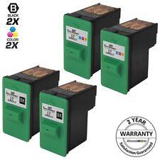 4pk for Lexmark 17 27 Black & Color Ink Cartridge 10N0217 10N0227 X1290 X1240