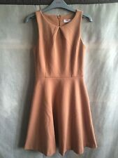 ASOS Petite Camel Sleeveless Skater Dress Size UK 4 worn couple of times