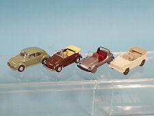 Wiking 1:87  4x VW  40/1 + 34/6 + 33/6 + 30/13 Käfer Buggy Cabrio Geländewg./TOP