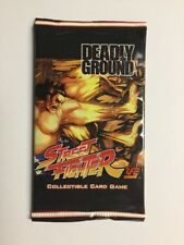UFS Street Fighter Deadly Ground Booster Pack New! CCG TCG