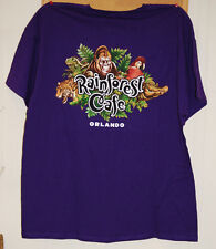 Rainforest Cafe Orlando XL Purple Tshirt with 2 Sided Graphics