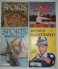 4 issues SPORTS ILLUSTRATED 1954-56 Willie Hartack, Carol Heiss, Great Dane