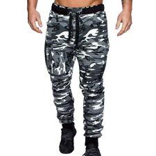 Mens Slim Fit Tracksuit Sport Gym Skinny Jogging Joggers Sweat Pants Trousers US
