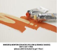 Winsor & Newton Designers Gouache14ml Tubes Yellow/Orange Buy 5 add 6th for free