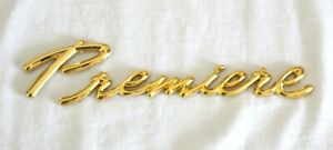"""01-03 OLDS SILHOUETTE CHEVY VENTURE 24K GOLD PLATED """"PREMIERE"""" EMBLEM-10328755"""