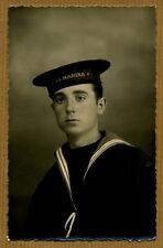 Cartolina di marina - giovane marinaio in divisa - REGIA MARINA - 1935