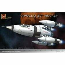 Pegasus 1:72 Apollo 27 Rocket Model Kit (Inc 2 Astronaut Figures) PEG9101