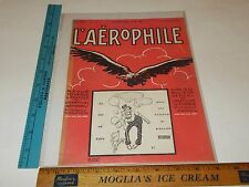 Rare Original VTG 1922 Laerophile L'Aerophile Balloon Eagle Cover Only Art Print