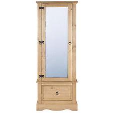 Premium Corona Solid Pine Bedroom Range - Single Mirrored Door & Drawer Wardrobe