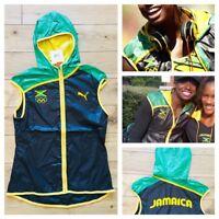 Puma Jamaica Damen pro Elite 2012 London Olympics Wind Weste Top Neu UK 10/US S