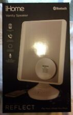 iHome-Reflect Pro Flat Panel Vanity Mirror Bluetooth Speaker USB Voice Control!
