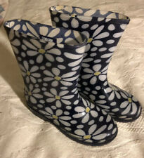 Gymboree Rubber Rain Boots Floral Girl's Size 12