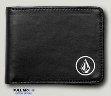 New Volcom Corps Black Mens Bifold Wallet