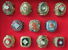 11 St. Louise Cardinals World Series Champions Ring Collection mit Kassette