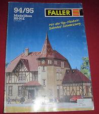 dachbodenfund alter spielzeug modell bau / eisenbahn katalog faller  1994 / 95