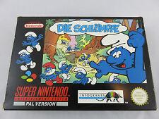 Super Nintendo Die Schlümpfe OVP, Anleitung und Poster RARE