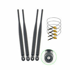 4 6dBi WiFi RP-SMA Dual Band Antenna +4 U.fl Mod Kit for Linksys WRT610N WRT600N
