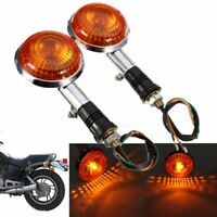 2x Amber Turn Signal Indicator Light Blinker Lens For Yamaha Virago Maxim VMax