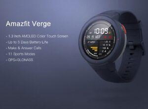 """Xiaomi Amazfit Verge 1.3"""" Amoled GPS IP68 Waterproof Sports Smart Watch English"""