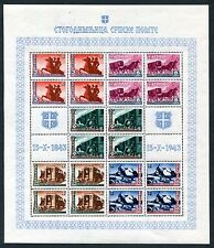 GERMANY OCCUPATION WW2 SERBIA 2N42-26 PERFECT MNH IN SHEETS WITH RARE VARIETIES