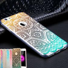 ultra sottile fiore rigida plastica trasparente Cover Custodia pr iPhone Sumsung