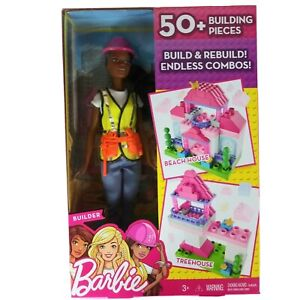 Barbie Builder Doll Beach House or Tree House - 50+ Pieces Mega Construx