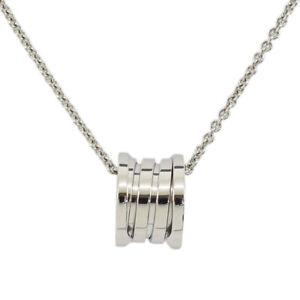 BVLGARI B-ZERO One Pendant Necklace 18K White Gold #2695