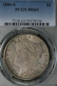 Nice Uncirculated 1880-S Morgan Dollar PCGS MS63!