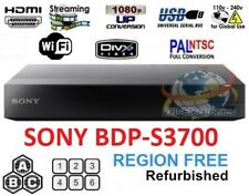 SONY BDP-S3700 Refurbished REGION FREE BLU-RAY DVD PLAYER ZONE A B C DVD 0-8 USB
