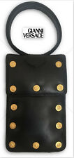 Gianni Versace Super Rare 90s leather medusa hand Wrist Clutch bag Purse