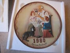 """Norman Rockwell """"The Toymaker"""" Limited 1st Annual Plate 1980 In original Box"""