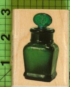 Antique Ink Bottle rubber stamp by Inkadinkado