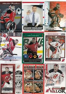 MARTIN BRODEUR a lot of 9 DIFFERENTS CARDS INSERTS near mint   LOT 93