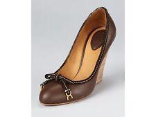 NIB Chloe Marcie Demi Wedge Sz 38.5 8.5 Leather Brown Rena Calf $675
