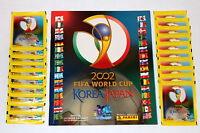 Panini WC WM Korea Japan 2002 – LEERALBUM EMPTY ALBUM + 20 Tüten packets sobres